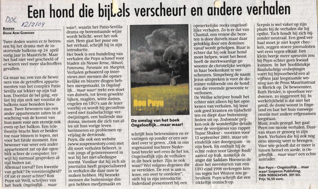 Dagblad De Limburger 12-02-2004