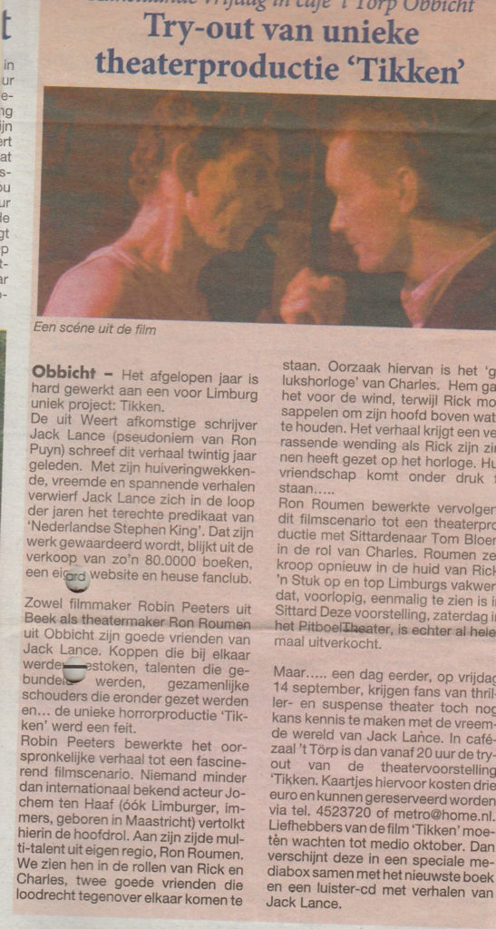Krant uit Swentibold 12-09-2007